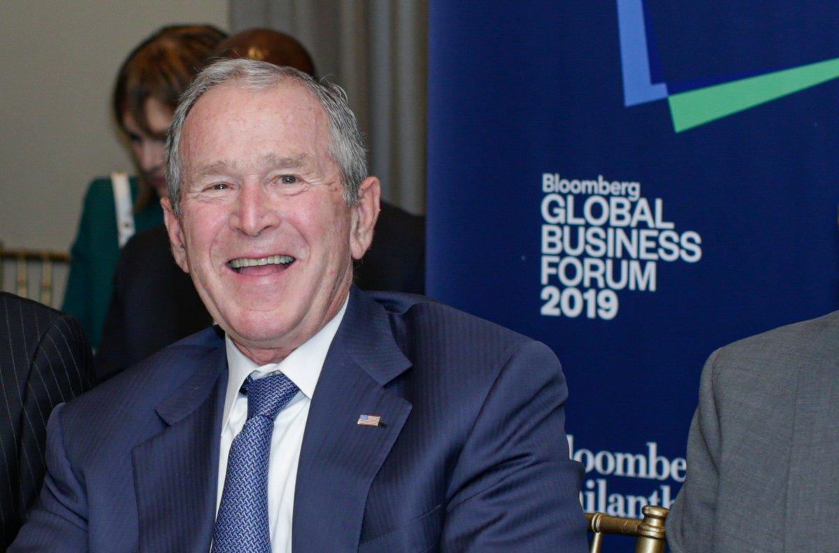 El expresidente de EEUU George W. Bush.