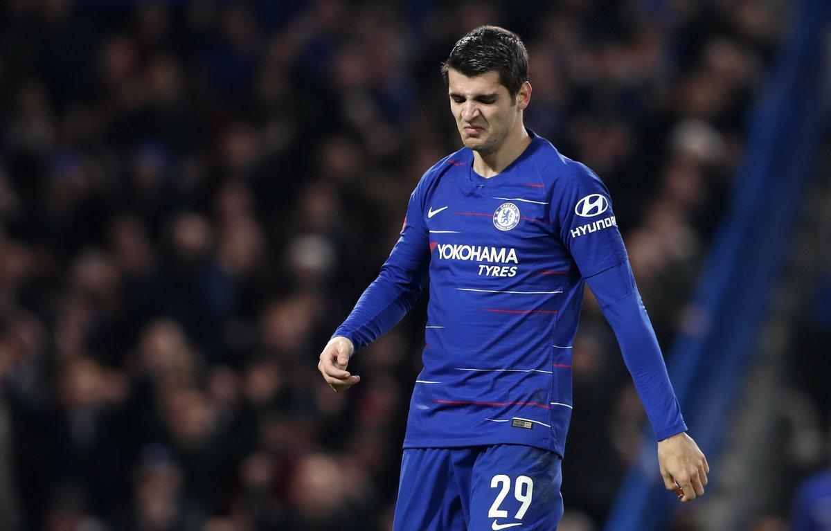Álvaro Morata, con la camiseta del Chelsea.