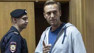 Alekséi Navalni, en una comparecencia judicial en Moscú en agosto del 2018.