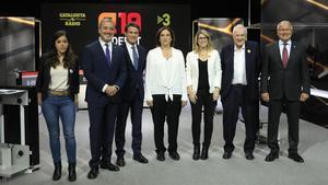 Los aspirantes a alcalde de Barcelona, enel debate de TV-3.