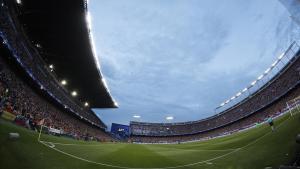 El estadio Vicente Calderón.