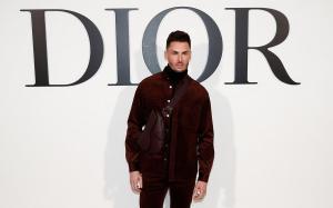 Baptiste Giabiconi, en el desfile de Dior, ayer en París.