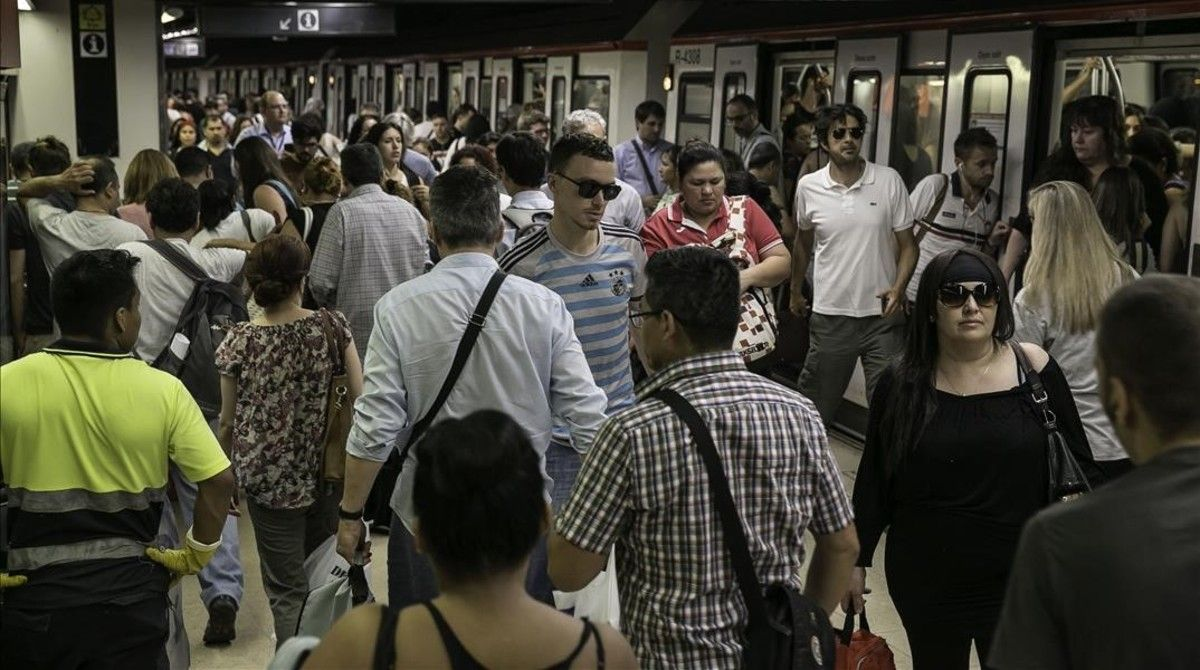 Una estación del metro de Barcelona.