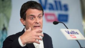 Manuel Valls, en la rueda de prensa del miércoles, en la que ofreció apoyar a Ada Colau.