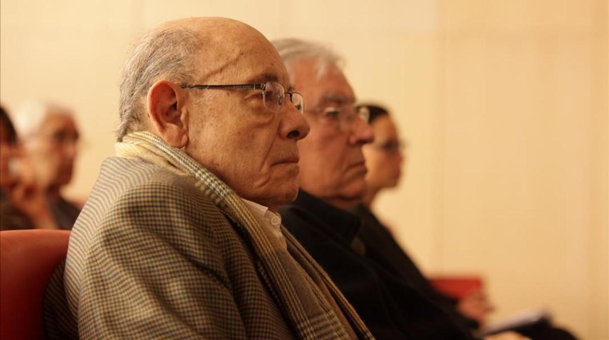 Fèlix Millet y Jordi Montull, en el juicio del 'caso Palau', el 1 de marzo del 2017.