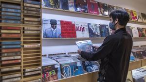 Una imagen de la tienda Barcelona City Records, este viernes.