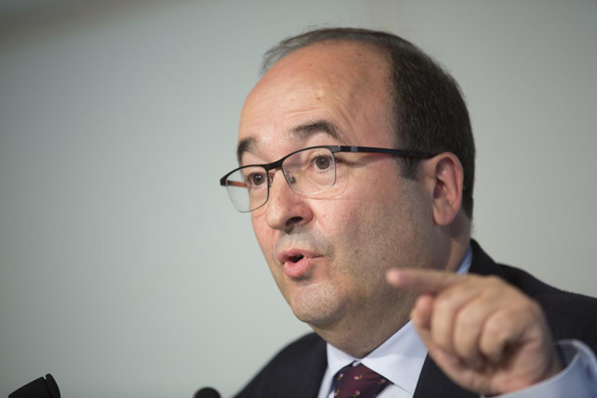 Miquel Iceta durante una rueda de prensa, fotografía de archivo.