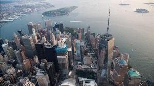 Vista aérea del One World Trade Center de Nueva York.