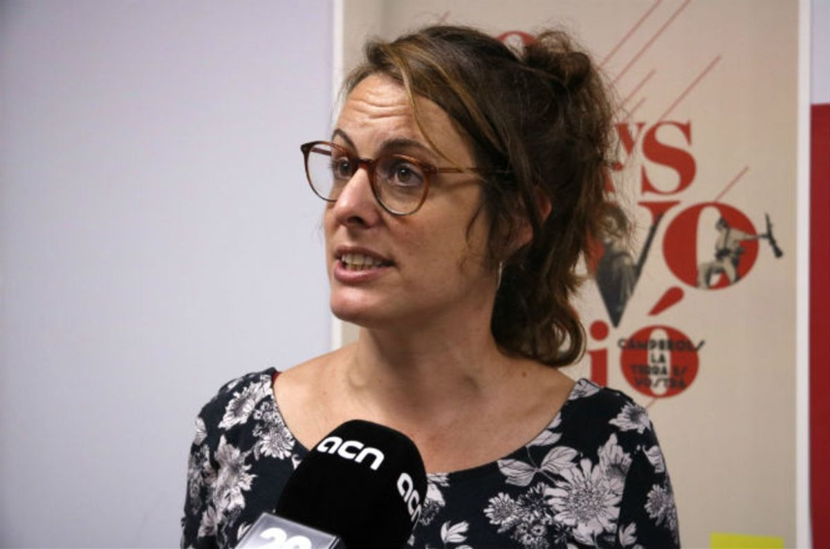 La candidata de la CUP al 10-N, Mireia Vehí.