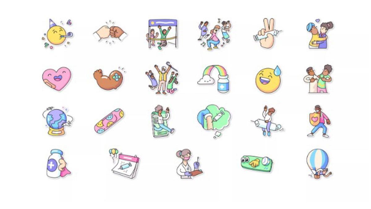 WhatsApp incorpora varios stikers para expresar sentimientos sobre vacunas.