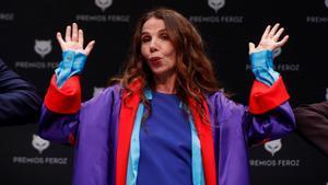 Victoria Abril, en la rueda de prensa de los premios Feroz.
