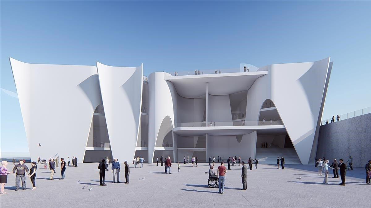 Reconstrucción virtual del edificio del Hermitage de Barcelona.