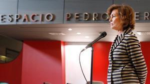Carmen Calvo acusa el PP de crear una inestabilidad insoportable cuando no gobierna.