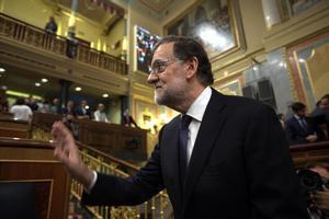 El aspirante a la reelección, Mariano Rajoy, en la segunda votación de su investidura que puede ser la definitiva.