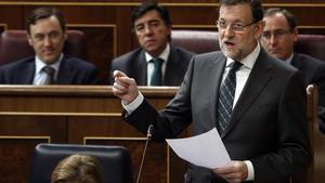 Mariano Rajoy, este miércoles, en el Congreso.