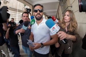 Antonio Manuel Guerrero, miembro de 'La Manada', ante el juzgado de guardia de Sevilla.