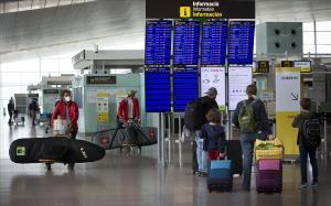 Salidas en el aeropuerto del Prat el primer fin de semana de  Semana Santa