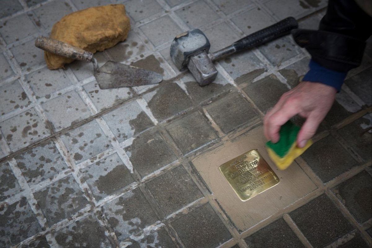 'Stolpersteine' a Barcelona, una pedra per no oblidar