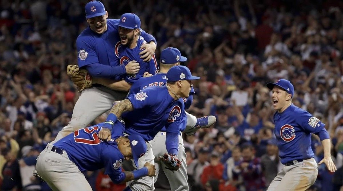 Los Cubs estallaron en júbilo al saberse campeones de la MLB