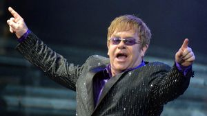 Una foto de archivo de Elton John.
