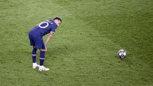 Neymar, durante el partido de Champions ante el Manchester City.