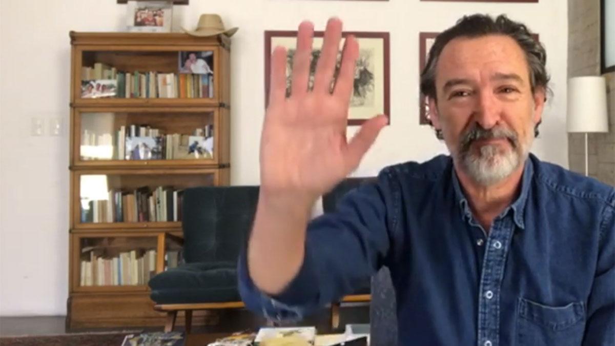 Ginés García Millán desde su casa