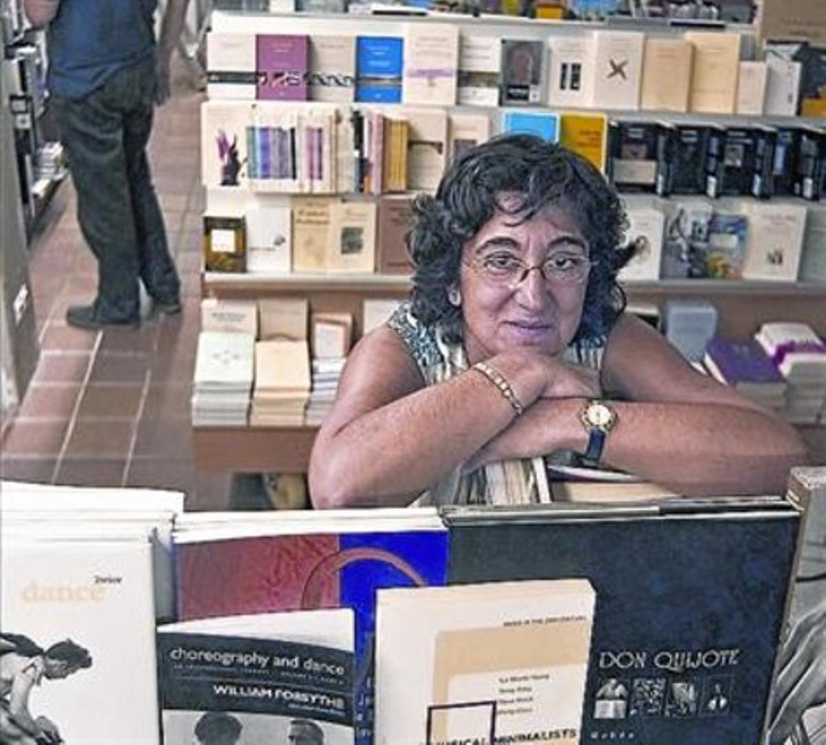 Conxa Gubern, el año 2004 en Laie de Pau Claris.