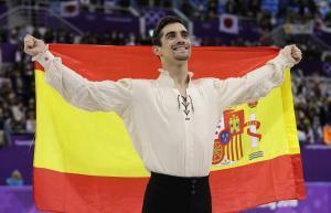 Javier Fernández tras ganar la medalla de bronce