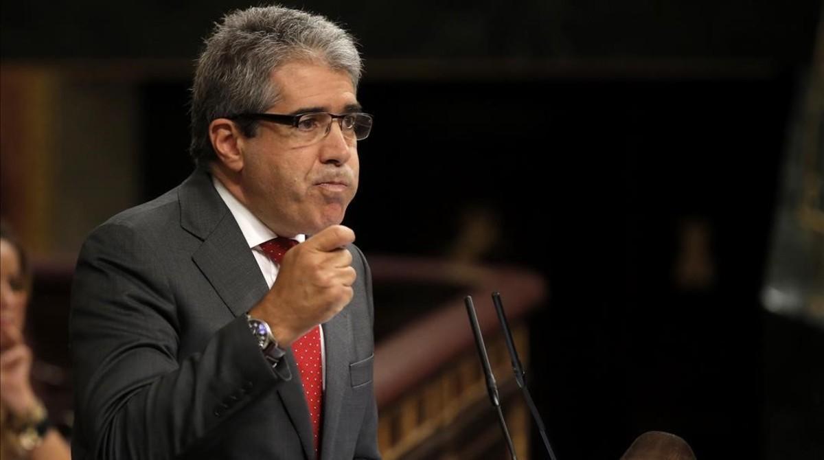 Francesc Homs, en el pleno del Congreso, el 27 de septiembre.