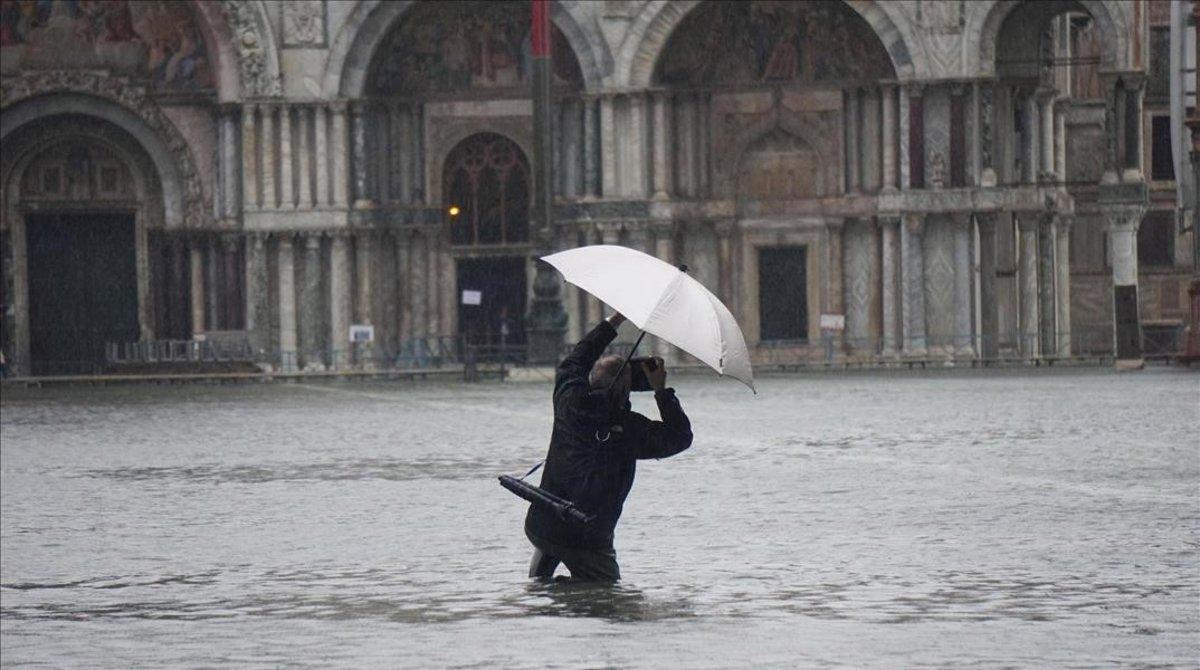 Venecia, inundada, el 12 de noviembre del 2019.