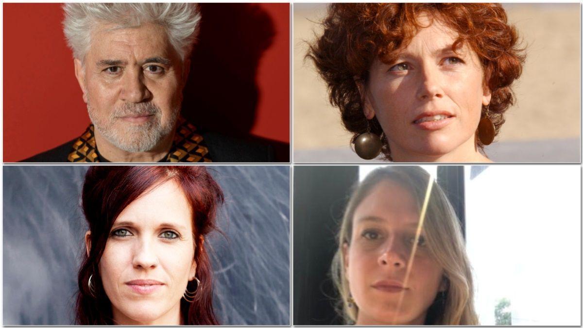 Pedro Almodóvar, Icíar Bollaín, Clara Roquet y Neus Ballús.