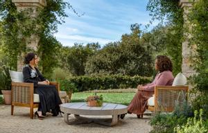 Meghan, durante la entrevista con Oprah Winfrey.