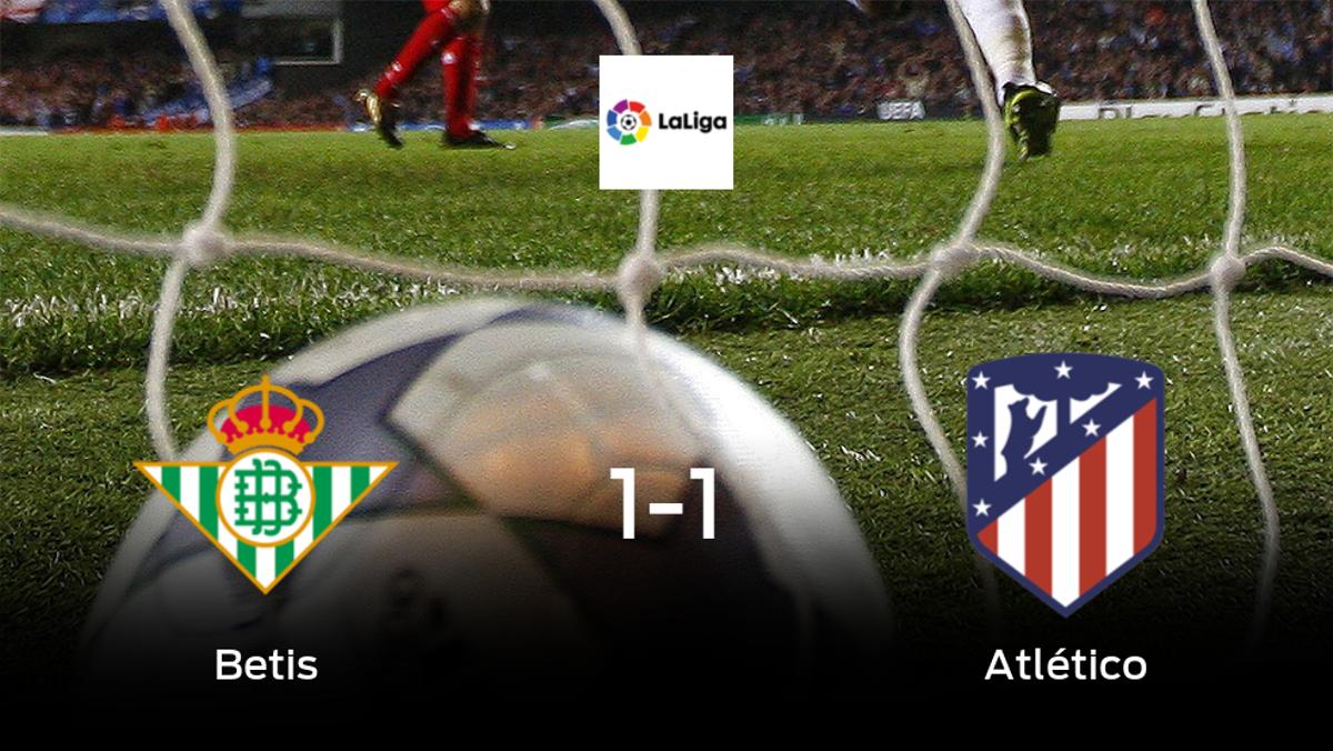 El Atlético de Madrid logra un empate ante el Real Betis (1-1)