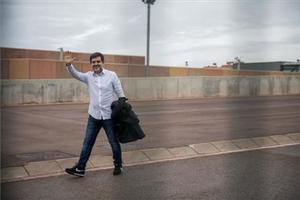 Jordi Sànchez, en su primer permisode fin de semana, en enero.