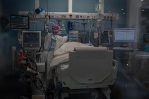 Una uci del Hospital del Mar de Barcelona.