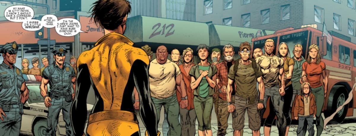 Una de las polémicas viñetas de Ardian Syaf en 'X-Men Gold'.
