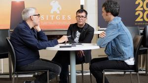 De izquierda a derecha, Julián García, Ángel Sala y Juan Manuel Freire, en su charla de balance del Festival de Sitges