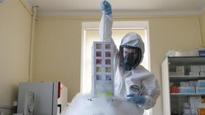 Científicos delInstituto de Investigación Gamaleya de Moscú trabajan en la elaboración de la vacuna rusa, bautizada como 'Sputnik V'.