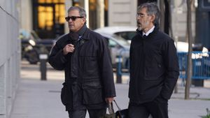Jordi Pujol Ferrusola entra en la Audiencia Nacional para declarar.