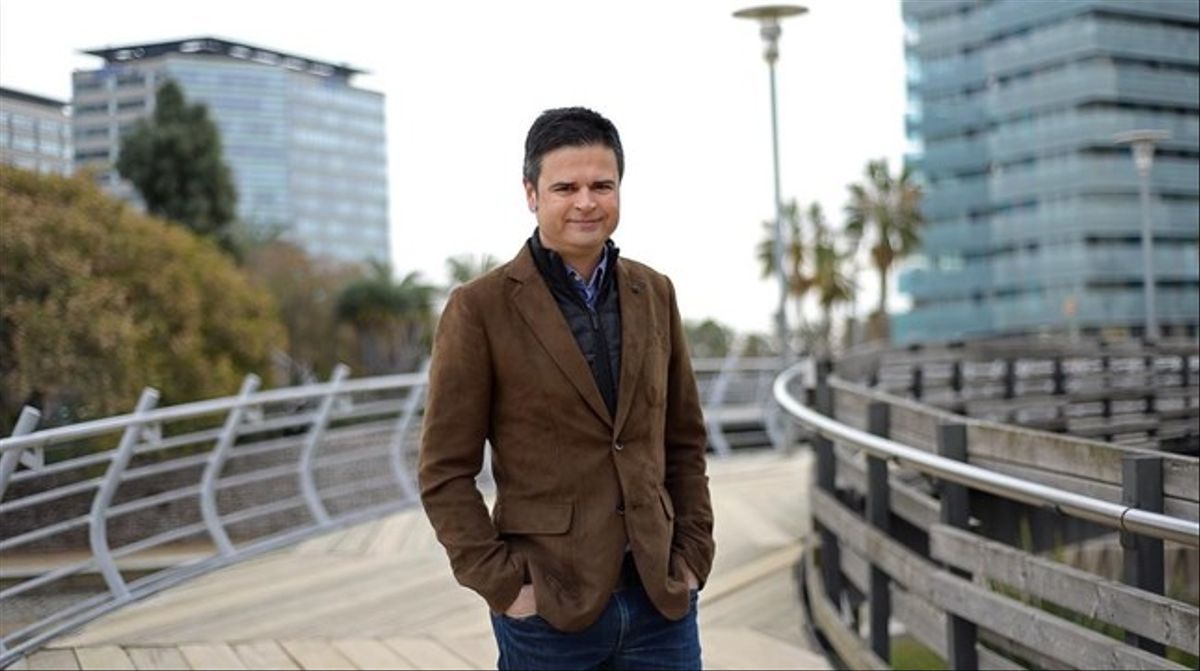 Jordi Grau, periodista deportivo, en Diagonal Mar.