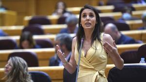 La ministra de Igualdad, Irene Montero, en el Senado, el pasado martes.