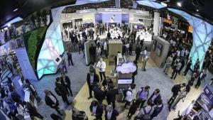 Ambiente en una edición del Mobile World Congress.
