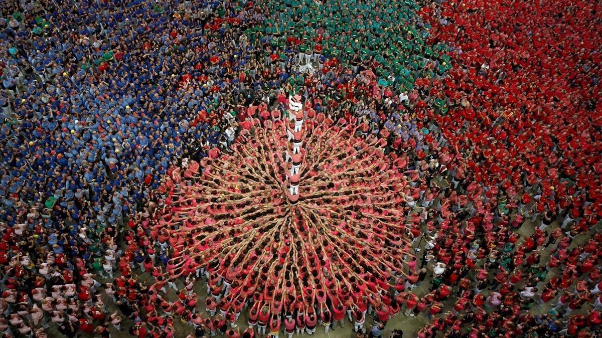 La Colla Vella dels Xiquets de Valls gana en Tarragona y destrona a los Castellers de Vilafranca