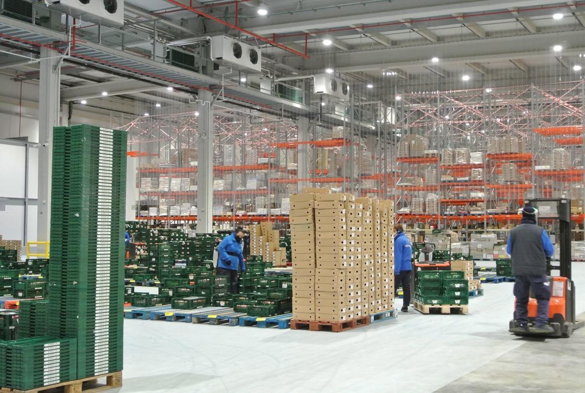 La planta logística que acaba de estrenar el grupo Caprabo en la Zona Franca.