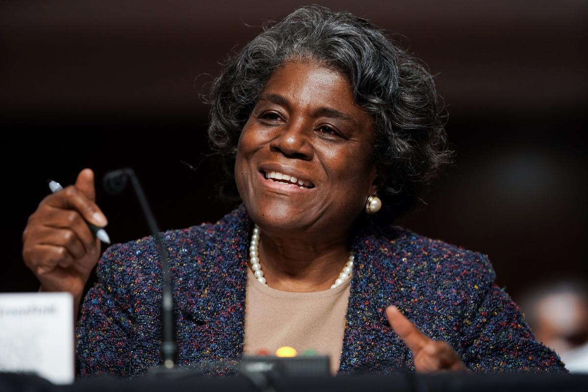 La embajadora estadounidense ante la ONU, Linda Thomas-Greenfield