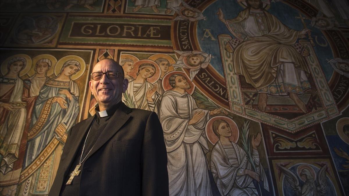 El cardenal Joan Josep Omella en la sede del Arzobispado de Barcelona, en el 2016.