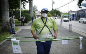 Métodopara promover la distancia social por la pandemia en El Salavador.