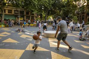 Una de las zonas pacificadas de Barcelona.