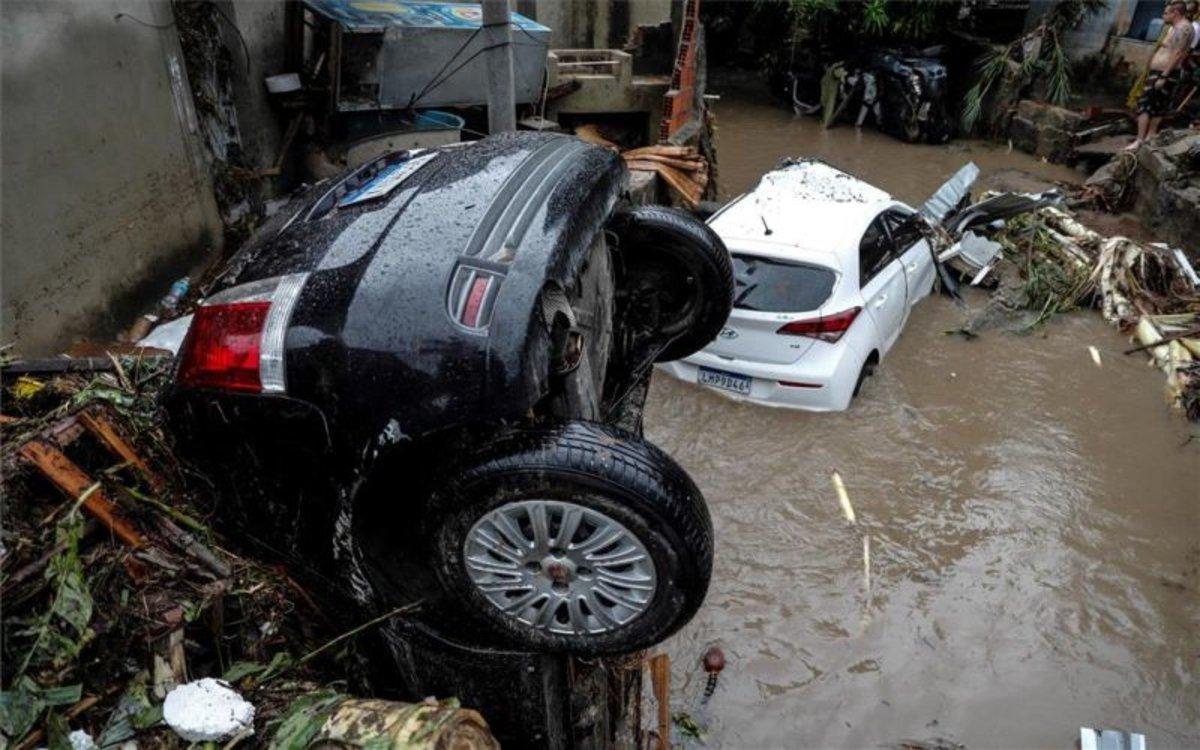Fuertes lluvias en algunos estados de Brasil.