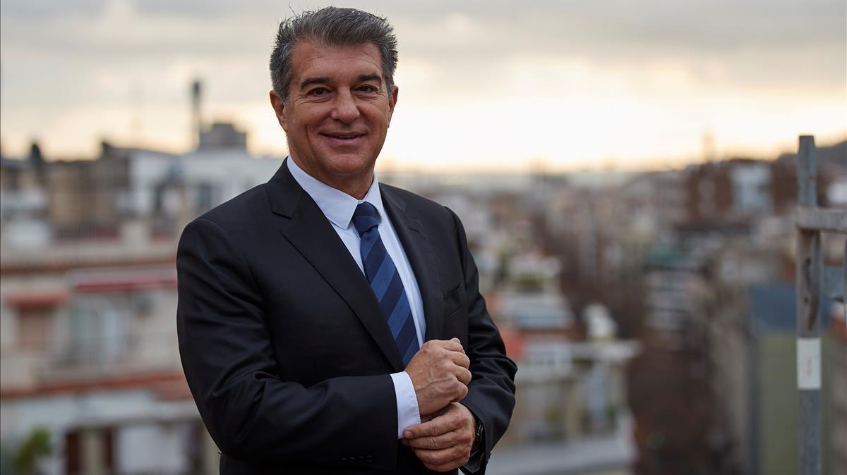 Joan Laporta, en plena campaña para las elecciones del FC Barcelona.